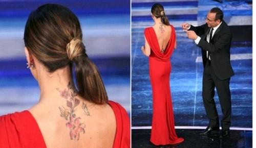 Foto | Ecco Il Nuovo Tatuaggio Di Belen Rodriguez Dopo La Farfallina Incriminata.. Ne Arrivano Altre Ma Sulla Schiena